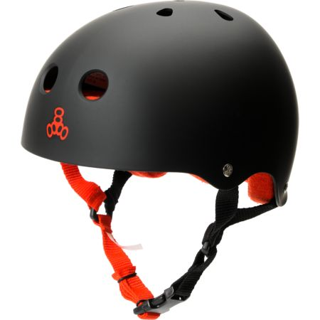Triple Eight Matte Black Brainsaver Skateboard Helmet