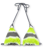 Gossip Wipe Out Neon, Grey & White Triangle Bikini Top