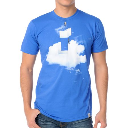 Imaginary Foundation Cloud Construction Blue Tee Shirt