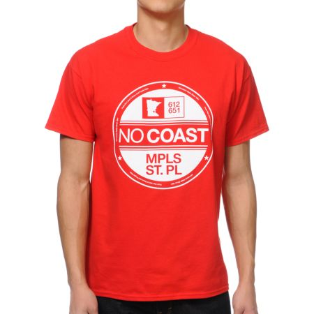 No Coast NC Era Red Tee Shirt