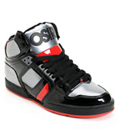 Osiris NYC 83 Black, Gunmetal & Red Skate Shoe