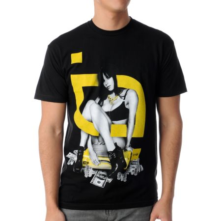 TMLS Sittin Pretty Black & Yellow Tee Shirt