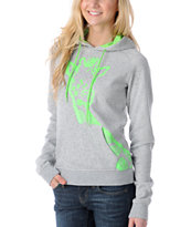 Ralik Amped Grey Giraffe Girls Pullover Hoodie