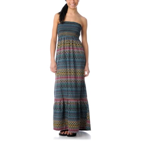 Element Polynesia Print Maxi Dress