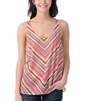 Element Girls Morgan Natural Mesh Back Tank Top