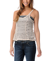 Element Girls Jamie Natural Crochet Tank Top