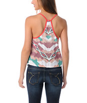 Element Girls Iris Fire Red Printed Back Tank Top