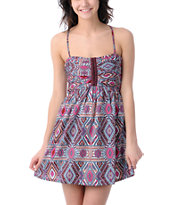 Billabong Odom Pink Printed Woven Dress