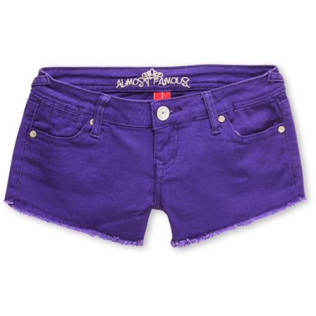 Almost Famous Tracy Purple Cut Off Shorts