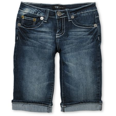 YMI Girls Jennifer Bermuda Jean Shorts