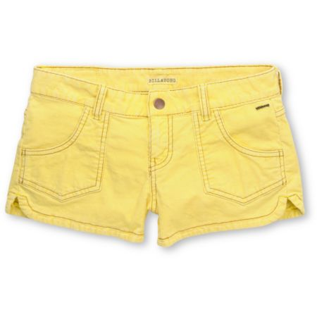Billabong Girls Walk On Yellow Corduroy Shorts