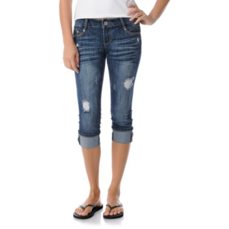 Almost Famous Lauren Denim Cropped Jeans