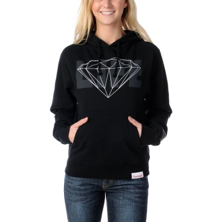 Diamond Supply Girls Diamond Life Black Pullover Hoodie