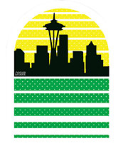 Casual Industrees Seattle Sky Sticker