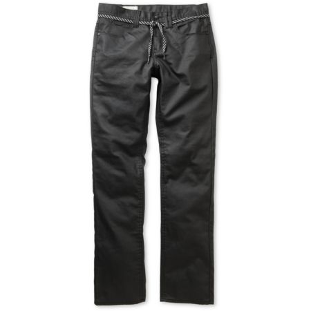 Empyre Skeletor Black Waxed Slim Jeans