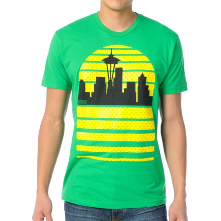 Casual Industrees Seattle Sky Green Tee Shirt
