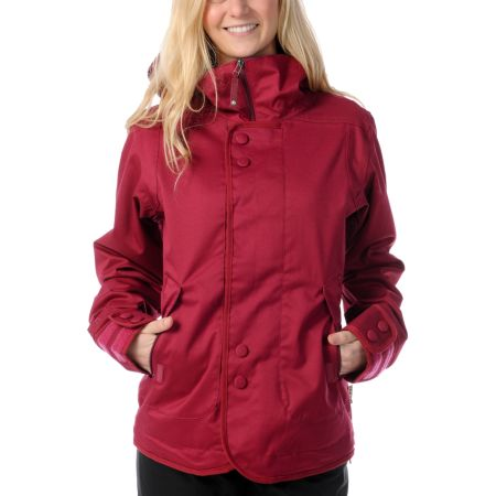 Burton Jet Set 10K Red 2012 Girls Snowboard Jacket