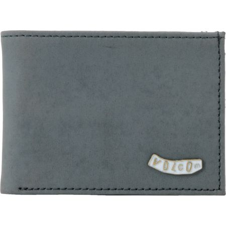 Volcom Pistol Grey Leather Bifold Wallet