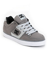 DC Pure TX Grey Canvas Skate Shoe