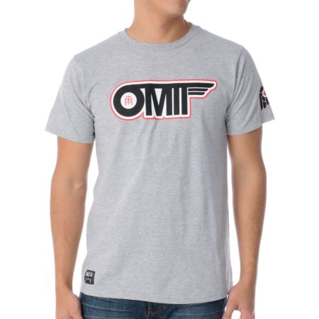 Omit Flyby Heather Grey Tee Shirt