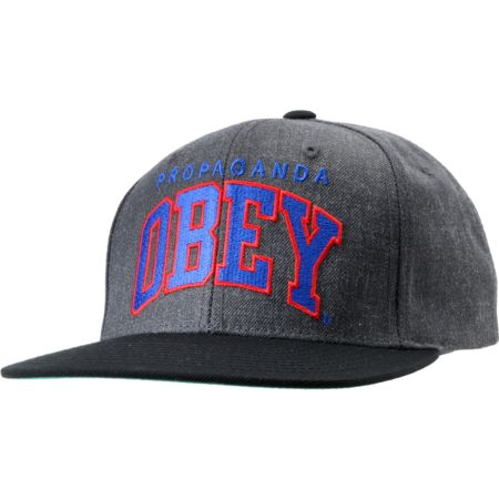 Obey Throwback Charcoal Snapback Hat