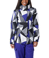 Empyre Girls Palisade 10K White & Purple Geo Snow Jacket 2013