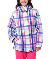 Empyre Girls Palisade White & Purple 10K Snowboard Jacket 2013