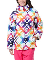 Empyre Girls Palisade White & Rainbow 10K Snowboard Jacket 2013