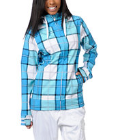 Empyre Girls 2013 Fleeting Blue Plaid 10K Softshell Jacket