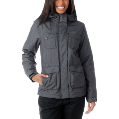 Empyre Girls Lakota Charcoal Snow Jacket