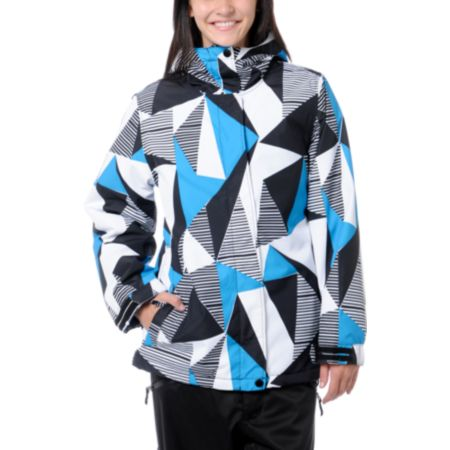 Empyre Girls Palisade 10K Black & Blue Geo Snow Jacket 2013