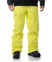 Aperture Union Tennis Yellow 10K 2013 Guys Snowboard Pants