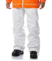 Empyre Guys Skeletor White Denim 10K 2013 Guys Snowboard Pants
