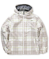 Empyre Ranger White Plaid 10K Boys Snowboard Jacket 2013