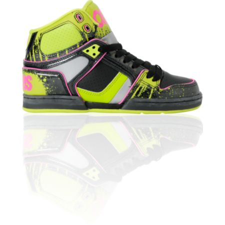 Osiris Girls NYC 83 Slim Black, Lime & Drip Shoe