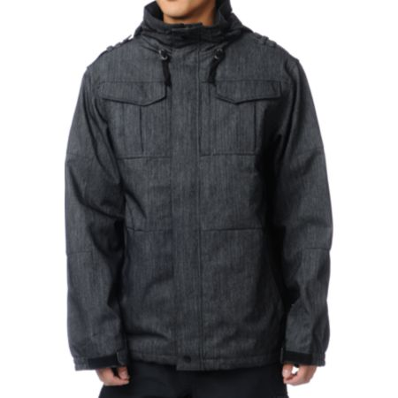 Empyre Recon M-65 Black Denim 10K Snowboard Jacket 2013