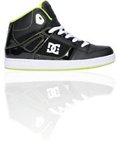 DC Boys Rebound Hi Black & Yellow Skate Shoe