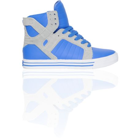 Supra Skytop Royal Leather & Grey Suede Skate Shoe