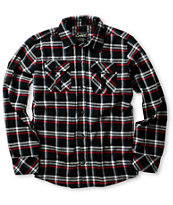 Empyre Boys Roadie Black Plaid Long Sleeve Woven Shirt