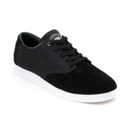 HUF Hufnagel Canvas & Suede Black Skate Shoe