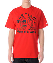 Trukfit Feelin Spacey Martians Red Tee Shirt