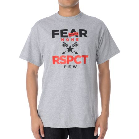 Trukfit Fear None Heather Grey Tee Shirt
