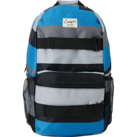 Empyre Rollin Blue & Black Stripe Skate Backpack