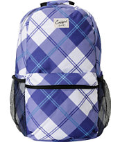Empyre Girls Purple Plaid Roll Call Laptop Backpack