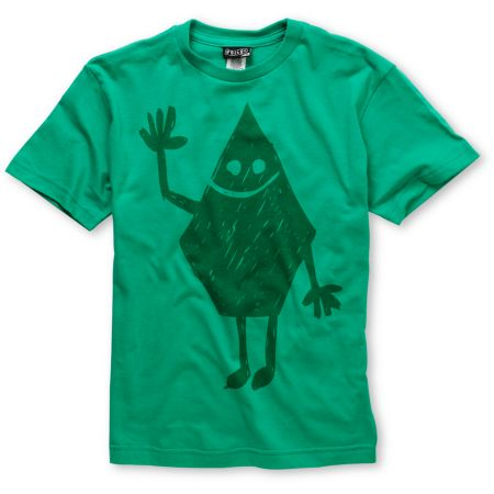 Volcom Boys Hey Stone Green Tee Shirt