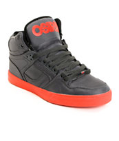 Osiris NYC 83 Vulc Ballistic Charcoal & Red Skate Shoe