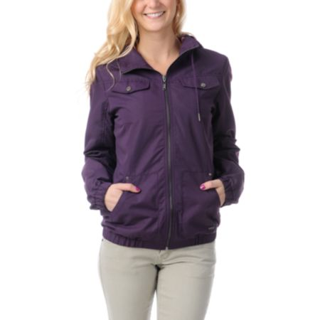 Empyre Girls Frisco Blackberry Purple Windbreaker Jacket