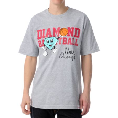 Diamond Supply Cutty Champ Grey Tee Shirt