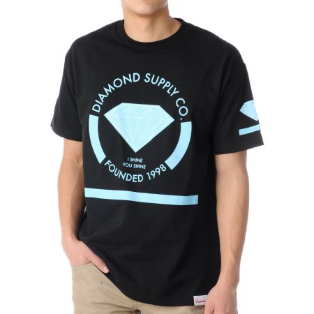 Diamond Supply I Shine You Shine Black Tee Shirt