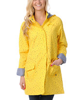 Volcom Girls In Da Bag Yellow Rain Jacket